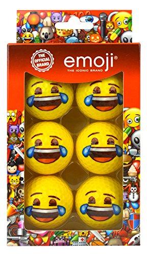 Emoji-Unisex 6Pack Weinen mit Lachen Neuheit Fun Golf Bälle, mehrfarbig
