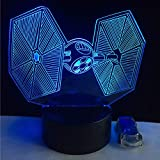 YDBDB Weihnachten 3D Usb Led Lampe Spielzeug Cartoon Krawatte Kämpfer Schreibtischlampe Visuelle Nachtlicht Tisch Dimmer Kinder Geschenke