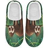 Linomo Pantuflas tropicales de la selva con animales lindos para mujeres, zapatillas de casa para mujer, zapatos de interior, multicolor, 39/40 EU