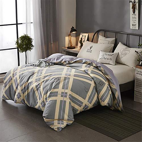 Jiaosa beddengoed - dekbedovertrek en kussensloop, geometrisch patroon met ruiten, zacht en comfortabel, 100% katoen 4 (3) sets