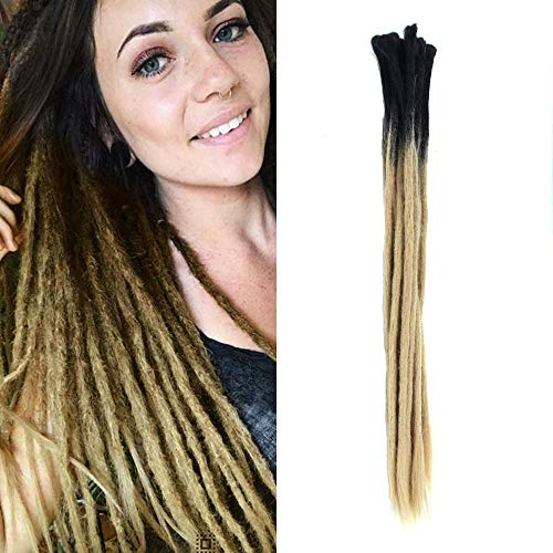 Aosome 24 Inch Ombre Dreadlock Extensions 10 Strands Handmade Synthetic Dreads Extensions Faux Locs Crochet Reggae Locs Braids (2-31#)