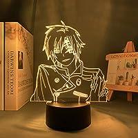 アニメワンダーエッグ優先度3D LEDランプAi Hote Figure Led Night Light用寝室の装飾ベッドサイドランプ子供誕生日撮影ギフト色ランプRGB調色 常夜灯 かわいい 雰囲気作り 16色 子供の部屋の装飾ホリデーライト 人気 アニメ -接する