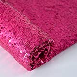 Pailletten-Fabrik Meterware Fuchsia Futterstoff Hot Pink