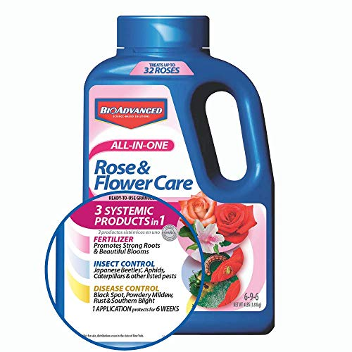 BioAdvanced 043929293566 Bayer Advanced 701110A All in One Rose and Flower Care Granules, 4-Pou, 4-Pound