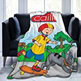 TECHSOURCE Caill-ou Merch Fuzzy Fluffy Plush Micro Soft Flannel Throw Blanket Fit Couch Chair Bed Sofa, Machine Washable 50x40 inch
