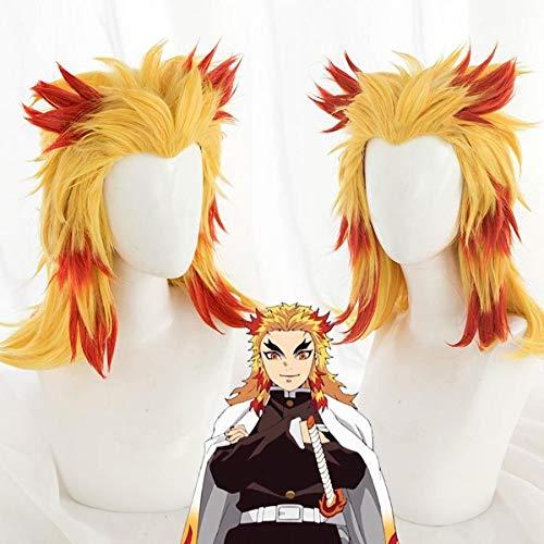Cosfun Japan Anime Rengoku Kyoujurou Cosplay Wigs - Red/Yellow