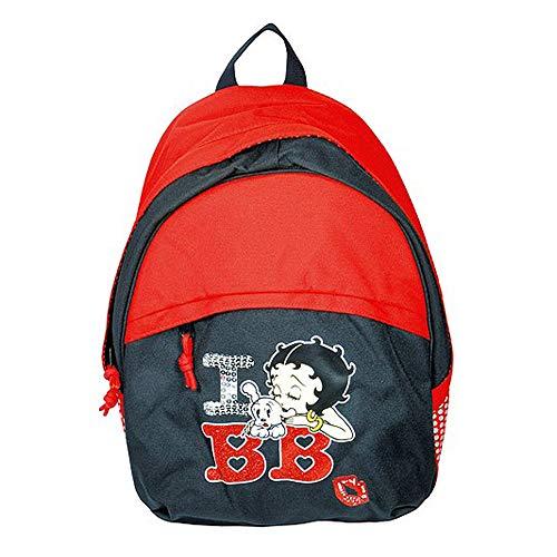 Target Betty Boop I Love BB Mädchen Schulrucksack Mochila Infantil, 44 cm, Rojo (Rot/Grau/Weiß)