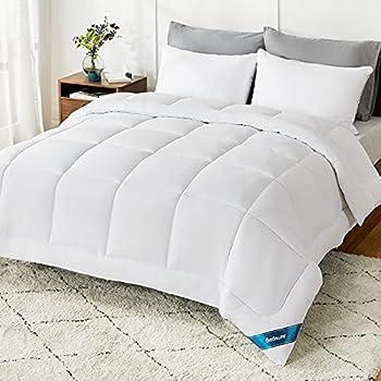 Bedsure Queen Comforter Duvet Insert - Quilted White Comforters Queen Size All Season Down Alternative Queen Size Bedding Comforter with Corner Tabs