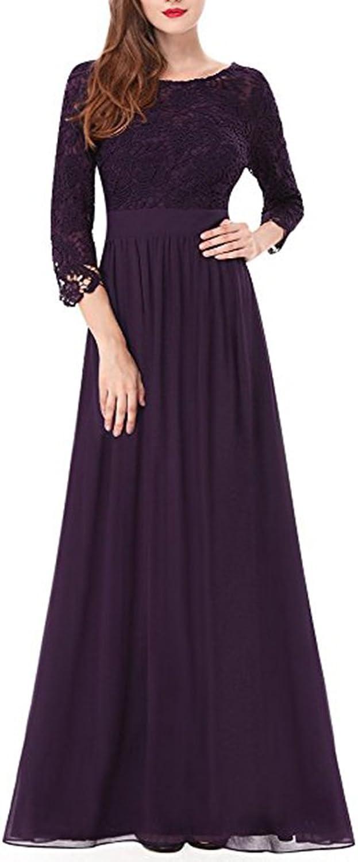 Aiyue Yishen Elegant Lace Long Sleeve The Bride of Mother Evening Wedding Dress
