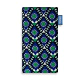 YOMIX Maja Blau Handytasche Tasche für LG Q7 Alfa aus