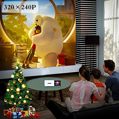 Pico Projector - Artlii 2020 New Mini Projector, Color LED Pico Projector for Cartoon, Movie, Kids Gift, Compatible with HDMI USB Laptop Video Games