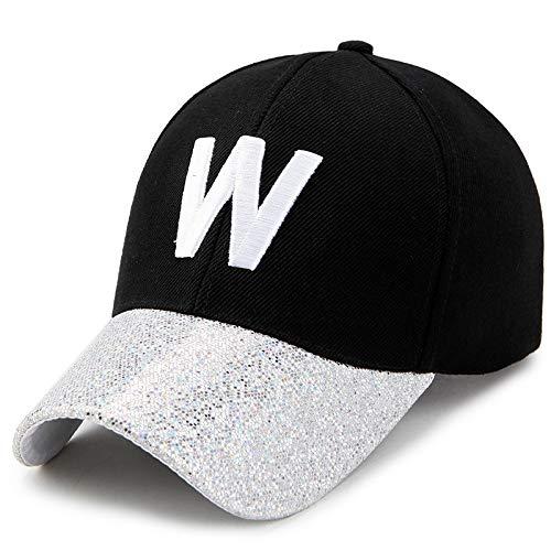 Sombrero de béisbol Femenino versión Coreana de la Marea Primavera Moda Protector Solar sombrilla Sombrero para el Sol Gorra de ala Brillante para Hombres