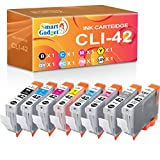 Smart Gadget Compatible Ink Cartridge Replacement for Canon CLI-42 CLI42 to Used with PIXMA Pro-100 Pro-100S Pro 100 Printer (8-Colors)