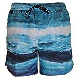 Calvin Klein - Bañador para hombre con cordón de ajuste medio Azul azul S