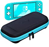 ButterFox Slim Carrying Case for Nintendo Switch Lite with 19 Game and 2 Micro SD Card Holders, Storage for Switch Lite Accessories (Blue Turquoise/Black)