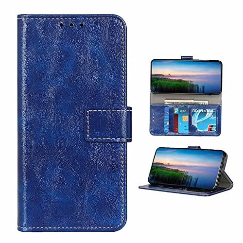 Coque Funda Xiaomi Redmi Note 10 Pro,Cartera Plegable con Ranura para Tarjeta para Xiaomi Redmi Note 10 Pro(Azul)