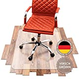 SCHMIEDWERK Bürostuhl Unterlage versch. Größen - Bodenschutzmatte für Schreibtischstuhl rutschfest in transparent milchweiß | Made in Germany (75x120cm)