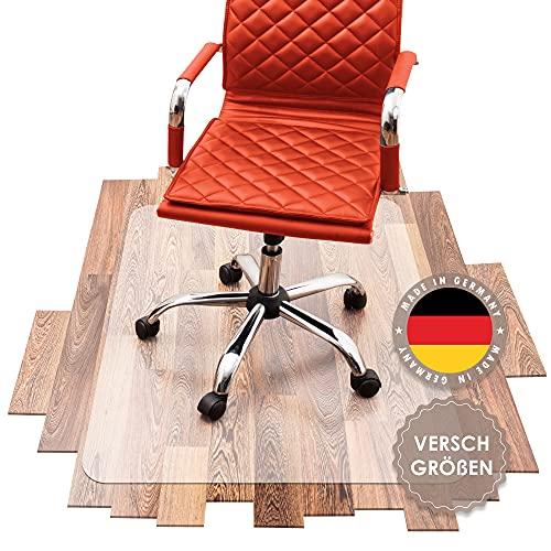 SCHMIEDWERK Bürostuhl Unterlage versch. Größen - Bodenschutzmatte für Schreibtischstuhl rutschfest in transparent milchweiß | Made in Germany (120x120cm)