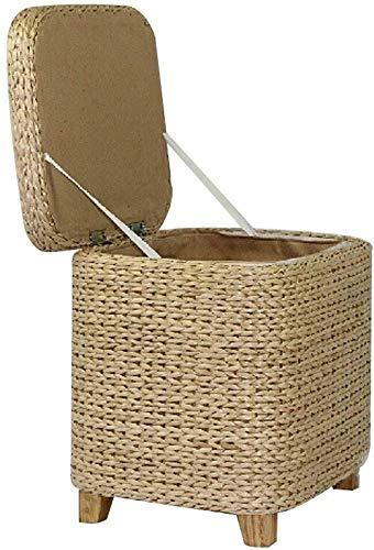 MMWYC Tabouret de Rangement en Bois Jambes Box Ottoman Seat Pouf Chaise Creative Chambre des ménages Repose-Pieds Multi-Fonction (Size : Large)