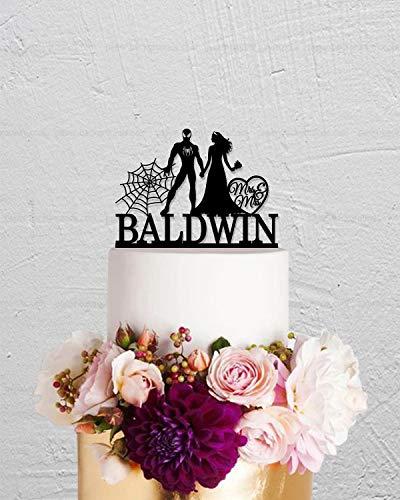 Bruiloft Taart Topper, Spiderman Taart Topper, Bruid en Groom Taart Topper, Mr Mrs Cake Topper, Aangepaste Taart Topper, Bruiloft Decoratie