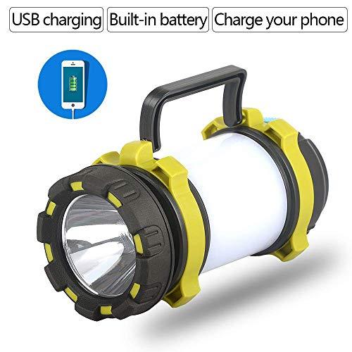 100W LED Searchlight Camping Lampe de poche Lanterne Spotlight portable avec batterie rechargeable USB portable Torch comme Power Bank aycpg