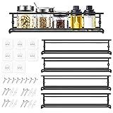 Organizador Especias - Set de 4 Especieros Pared Estante Cocina de Metal -...