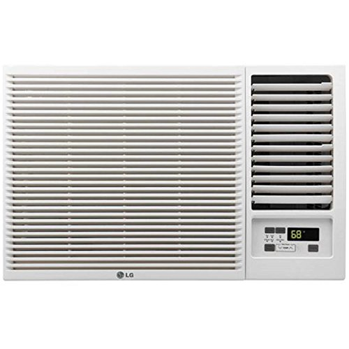 LG 7,500 BTU 115V Window-Mounted AIR Conditioner with 3,850 BTU Supplemental Heat Function (Renewed)