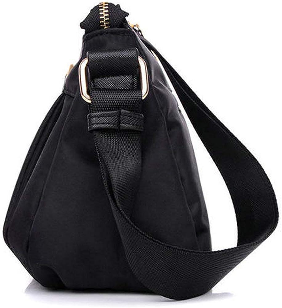 Trihedral-X Sacs en nylon durables occasionnels occasionnels en nylon de femmes Sacs d'épaule imperméables Color Blue