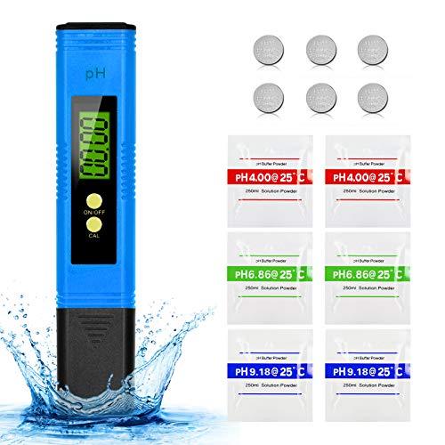 Mture PH Messgerät, PH Wert Messgerät Digital Tester Pool ATC Wasserqualitätstest Messgerät mit LCD Display, Hohe Genauigkeit, Wasserqualität Tester für Trinkwasser, Hydroponic, Aquarium, Labor,Blau