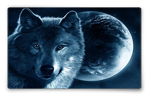 Silent Monsters 1003002020 - Alfombrilla de ratón para gaming, S (240 x 200 x 3 mm), diseño Wolf, multicolor