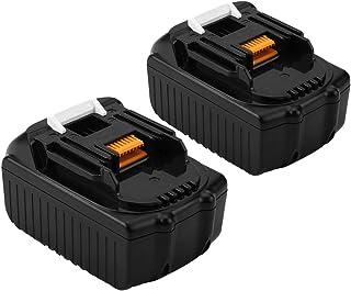 Exmate Batería de repuesto 18V 2500mAh Li-ion para Makita 194205-3, BL 1830, BL1815, LXT400 (paquete de 2)