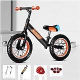 Bici Niños Chicas Bicicleta De Equilibrio para Bebé De 1-6 Años, Bicicleta De Entrenamiento Ligera Sin Pedales con Ruedas De 12 Pulgadas Y Freno De Mano,Naranja
