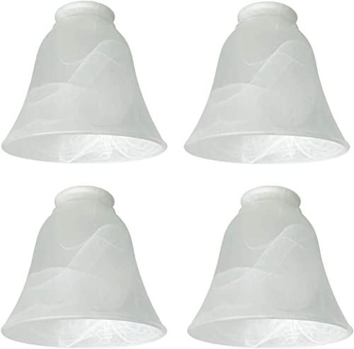 wholesale 4 Pack Ceiling Fan Light new arrival Covers, Transitional Style Replacement Bell Shaped Glass Shade online sale Ceiling Fan Replacement Globes (Alabaster, 4-3/4'') outlet sale