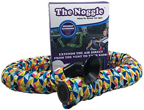 Noggle - Extend Hot and Cold Air from Your Dash AC Vent to Kids in The Back Seat - Summer and Winter Vehicle Baby Traveling System to Keep Children Comfortable in The Car - 6ft, Kaleidoscope