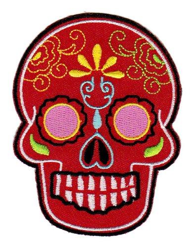 Mexican sugar skull /écusson b/ügelbild patch iron on patchs application