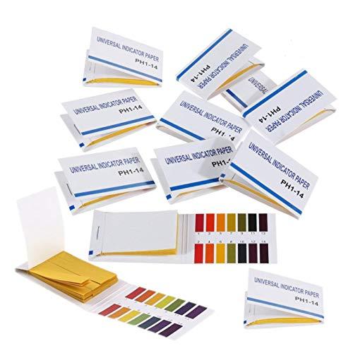 JZK 960 Strisce cartina di tornasole pH 1-14 pH Test Strisce con scheda di controllo per l'acqua saliva urina succhi di frutta cosmetici suolo