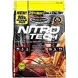 Whey Protein Powder | MuscleTech Nitro-Tech Whey Protein Isolate & Peptides | Lean Protein Powder for Muscle Gain | Muscle Builder for Men & Women | Sports Nutrition | Chocolate, 10 lb (100 Servings)