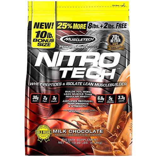 Whey Protein Powder | MuscleTech Nitro-Tech Whey Protein Isolate & Peptides | Lean Protein Powder...