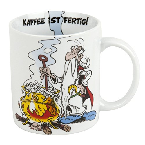 Könitz Kaffeebecher Asterix Kaffee ist fertig im Geschenkkarton Becher, Porzellan, Mehrfarbig, 11x8x9.2 cm