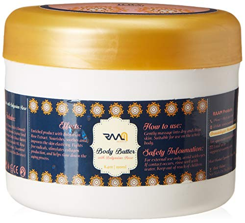 RAAM Body Butter with Bulgarian Rose - 100% Natural Product
