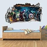GNG Marvel Avengers Vinyl Smashed Wandkunst Aufkleber