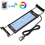 COODIA Aquarium Hood Lighting Color Changing Remote Controlled Dimmable LED Light for Aquarium/Fish Tank, 6W 36 LED's Extendable Upto 19.5 inches (for Fresh and Salt Water)