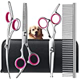Best Grooming Shears For Dogs - Dog Grooming Scissors Kit with Safety Round Tips Review