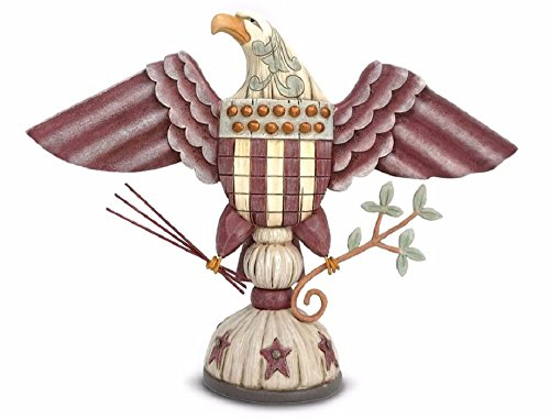 Jim Shore River's End by Enesco Patriotic Eagle with Arrows and Branches Figurine