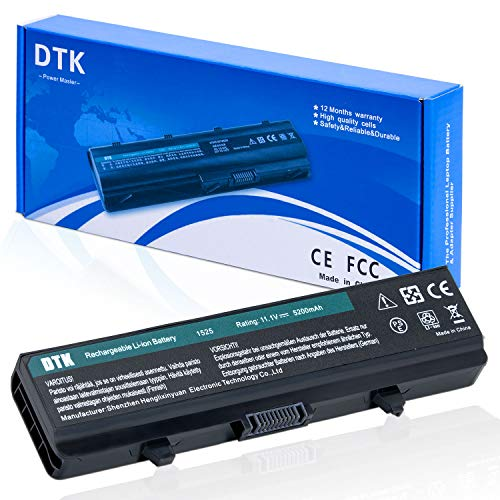 DTK Laptop Battery for Dell Inspiron 1545 1525 1750 GW240 X284G K450N PP41L PP29L 1526 RN873 M911G GP952 K450 1440 1546 1750 312-0625 312-0626 GP252 GW252 RU573 RW240 XR693, 11.1V 5200MAH