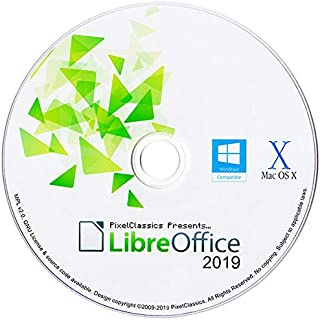 LibreOffice 2019 Home Student Professional & Business Compatible With Microsoft Office Word Excel & PowerPoint Software CD for PC Windows 10 8.1 8 7 Vista XP 32 & 64 Bit, Mac OS X and Linux
