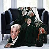 Draco-Malfoy Blanket Ultra-Soft Micro Fleece Blanket for Couch Bed Warm 50'X40' Plush Throw Blanket Suitable for All Season