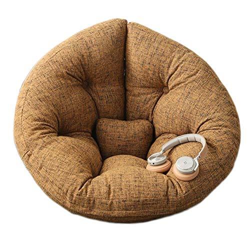 Folding Faule Rückenlehne Sofa Spielmatte, Sitzsack-Stuhl-Sofa-Abdeckung, for Erwachsene und Kinder, ohne Füllung (Color : Brown, Size : Kid)
