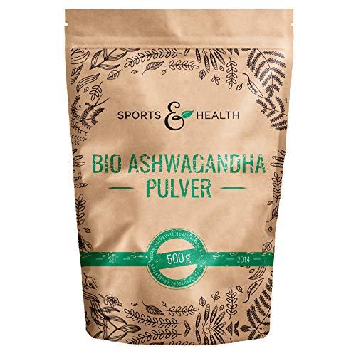 Ashwagandha Pulver Bio - 500g Beutel Bio Ashwagandha Pulver - Aus Kontrolliert Biologischem Anbau - Beste Qualität- Abgefüllt In Deutschland - Bio Aschwaganda Pulver