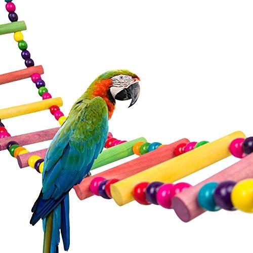 Mewtogo, Giocattolo Per Pappagalli, Corda Arrotolata A Spirale In Cotone Naturale Colorato, 2M, Trespolo A Spirale Per Uccelli